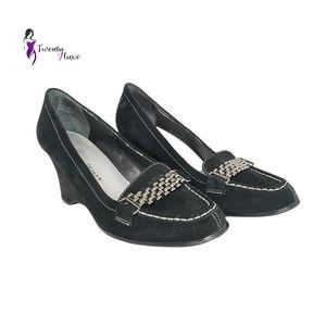 Cloudwalkers Luca Womens Suede Wedge Shoes sz. 11W